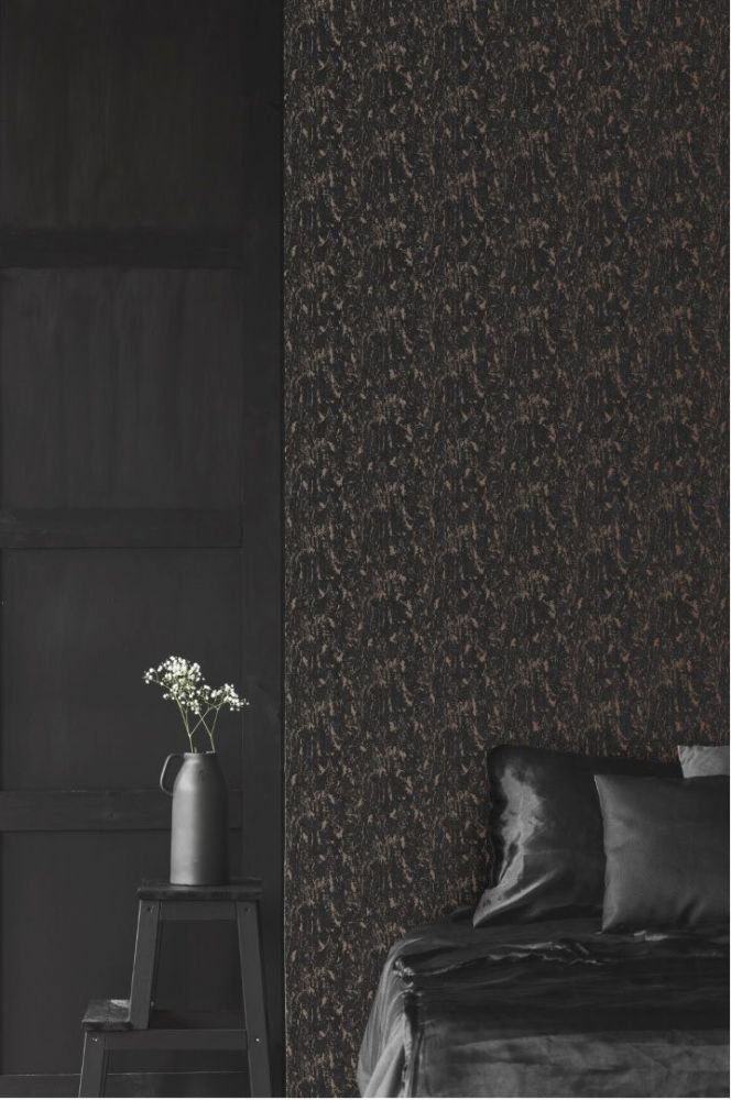 Graham and Brown Milan Charcoal & Rose Gold 107969 Wallpaper
